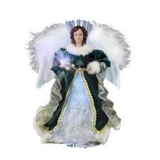 amazon com kurt adler 12 inch fiber optic irish angel treetop