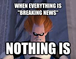 Breaking News Meme Generator - livememe com syndrome when everyone s super no one is