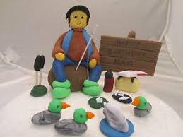 fisherman cake topper fishing fisherman no 1 edible birthday cake topper figure