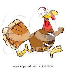 clipart of a thanksgiving turkey bird bowl football