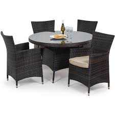 rattan miami 4 seat round garden furniture set internet