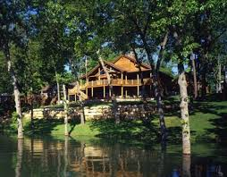 built at the water u0027s edge of table rock lake in missouri this log