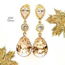 ch earrings brown champagne desirez jewelry
