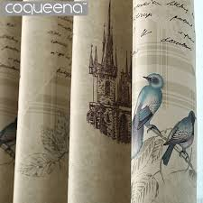 vintage bedroom curtains ready made rustic style curtains for kitchen living room bedroom
