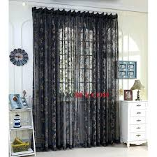 light blue and brown shower curtains sheer jacquard floral pattern