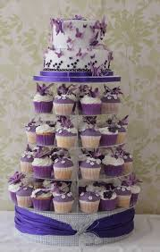 Purple And White Wedding Purple And White Butterfly Wedding Cake Cake By Cakes O U0027licious
