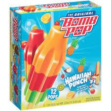 bomb pop hawaiian punch frozen confection 12 ct box walmart com