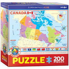 map of canada puzzle map of canada 200 jigsaw puzzle age 6 ebay