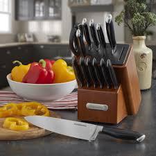 farberware kitchen knives farberware edgekeeper pro self sharpening 14 piece knife block