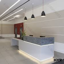 Circular Reception Desk Elegant Man Made Stone Pure Acrylic Solid Surface Circular