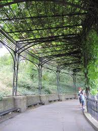 covered walkway at the conservatory garden nyc new york new