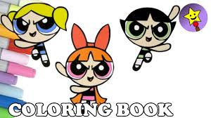 powerpuff girls coloring book blossom buttercup bubbles coloring