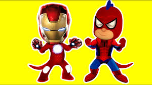 pj masks spider man iron man coloring pages for kids spider man