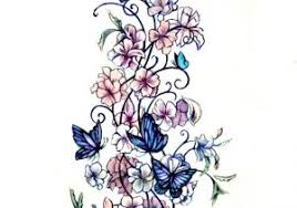 butterfly and flower tattoos designs 1000 ideas about and