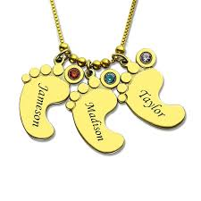 mothers necklaces with names and birthstones aliexpress buy gold color baby charm birthstone