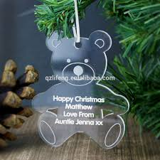 Teddy Bear Christmas Tree Ornaments by Acrylic Christmas Ornaments Acrylic Christmas Ornaments Suppliers