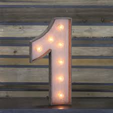 marquee numbers with lights edison marquee number 1 town country event rentals