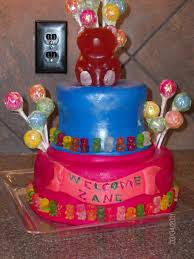 gummy bear baby shower cakecentral com
