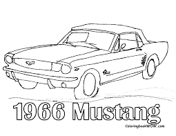 wrecked car drawing mustang car coloring pages free coloring home