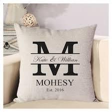 wedding pillows personalized wedding pillow cover monogram pillow by babapanda