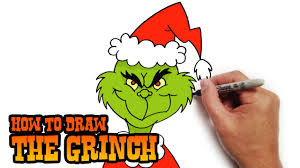how to draw the grinch easy art lesson youtube