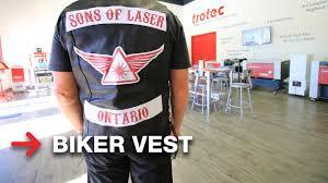 biker vest laser cut biker patches biker vest trotec youtube