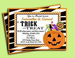 halloween invitation printable trick or treat collection