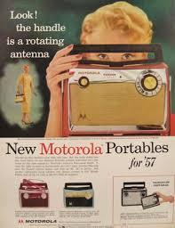 Fiesta Toaster 1957 Motorola Portable Radio Ad Ranger Corsair Fiesta Models