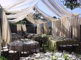 backyard weddings backyard wedding with swagging town country event rentals