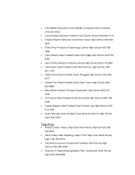 Resume For Football Coach Cortney Braswell Resume 2014
