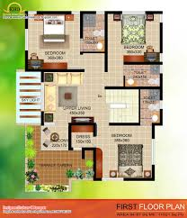 2035 sq ft 4 bedroom contemporary villa elevation and plan