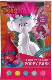 dreamworks trolls poppy diy paint your own bank only 12 79