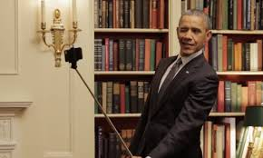 yolo u0027 obama poses with selfie stick makes faces in mirror for