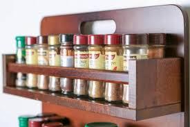 18 Jar Spice Rack Spice Rack Wooden Open 2 Tiers Wooden Bar 36 Jars