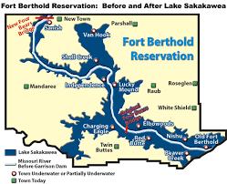 lake sakakawea map fort berthold reservation before and after lake sakakawea