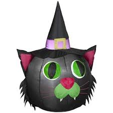 spooky creepy and cool black cat halloween decor