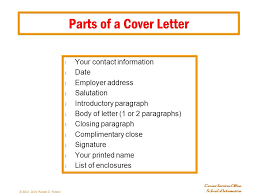 parts of cover letter parts of a cover letter cover letter and title page parts of