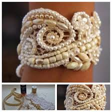 pearl lace wonderful diy pretty pearl lace bracelet
