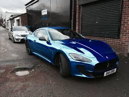 maserati turquoise blue chrome maserati wrap by printdsign manchester uk printdsign