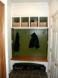 coat rack with storage bench hall tree industrial metal wooden