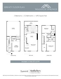 Serenity Floor Plan Floor Plans U2014 Wasatch Springs