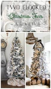 two flocked christmas trees a review so much better with age