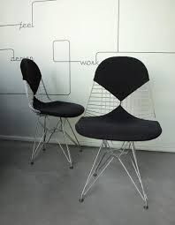 Wire Desk Chair Vintage Dkr 2 Wire Chairs With Covers By Charles U0026 Ray