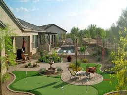 Arizona Backyard Landscaping by Artificial Grass Carpet Scottsdale Arizona Lawns Backyards