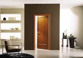 Interior Doors Pictures Favored Brown Teak Single Panels Modern Interior Doors With Brown