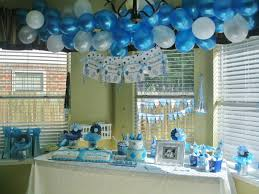 ideas for a boy baby shower christmas silver decorations delightful blue table window