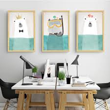 Cheap Framed Wall Art by Online Get Cheap Cartoon Hippo Pictures Aliexpress Com Alibaba
