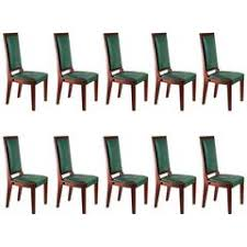Burlap Dining Chairs Set Of Ten Painted And Burlap Dining Chairs At 1stdibs