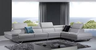 Modern Italian Leather Sofa Furniture Stylish Modern Italian Leather Sofa With Folding Back