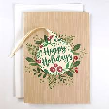happy holidays ornament business cards cards